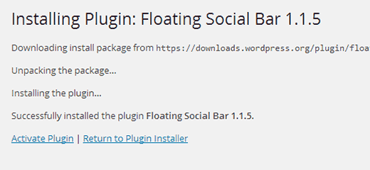 Activating a plugin