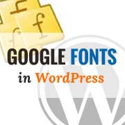 Google Fonts in WordPress