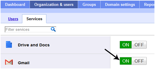 Enabling Google Apps