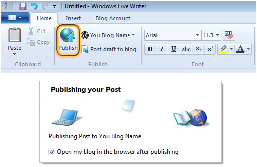 How to publish WordPress posts in Windows Live Writer