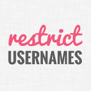 Restrict Usernames in WordPress