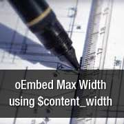 oEmbed Max Width