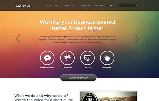 Conexus a Responsive WordPress Corporate Theme