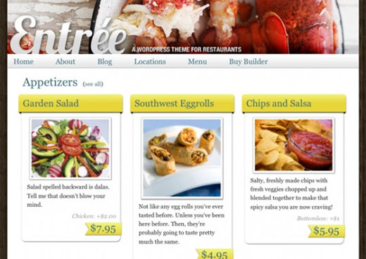 Entree restaurant theme by iThemes