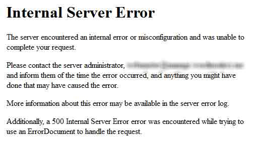 Fix the Internal Server Error in WordPress