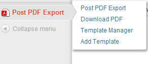 Post to PDF Export Menu