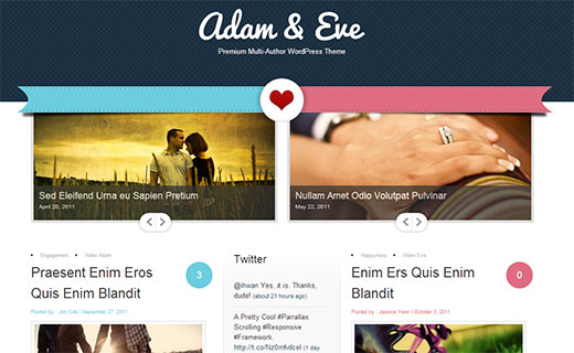 Adam & Eve - A couple-blog theme