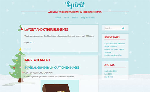 Spirit - A Free WordPress Theme for Holidays