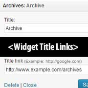 Widget Title Links