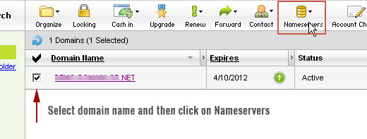 Editing nameservers for a domain on GoDaddy
