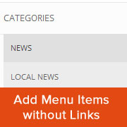 How to Add Titles in WordPress Menu Without Linking to a Page