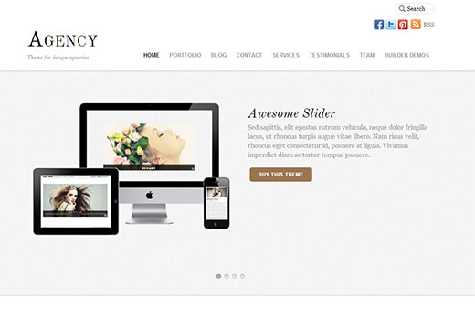 Agency a multipurpose responsive WordPress theme