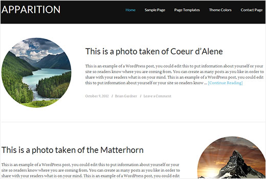 Apparition responsive WordPress theme by StudioPress