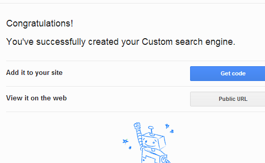 Get code to add Google custom search engine to your website