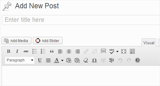 Insert slider into a WordPress post or page