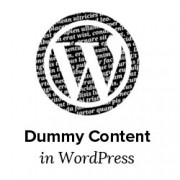 Dummy Content in WordPress