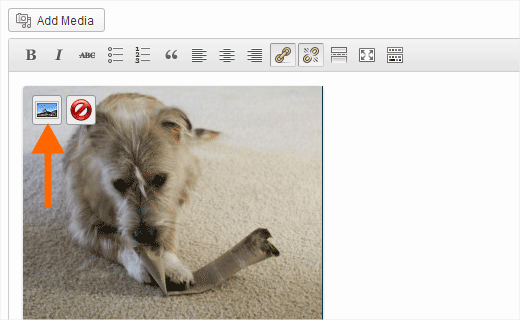 Editing image alignment in WordPress post editor