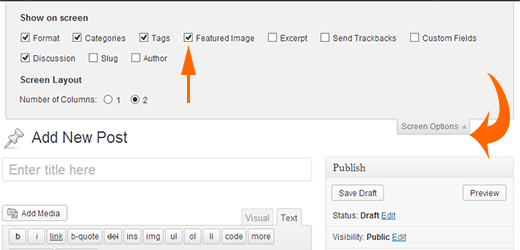 Add Featured Image Meta Box on Post Edit Screen in WordPress