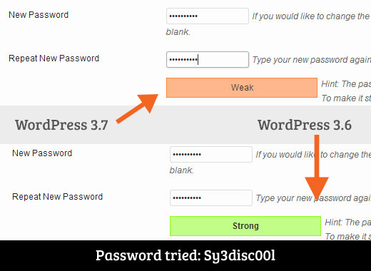 Password Meter in WordPress 3.7