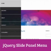 How to Add a Slide Panel Menu in WordPress Themes