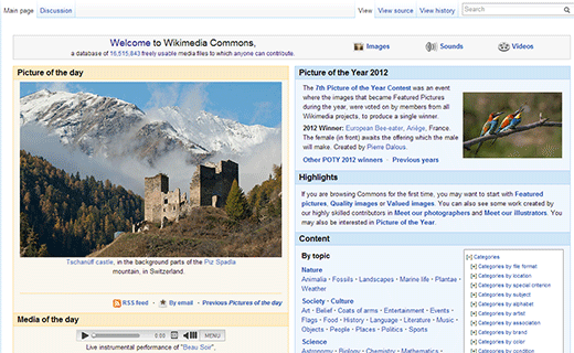 Wikimedia Commons, a great place to find free images