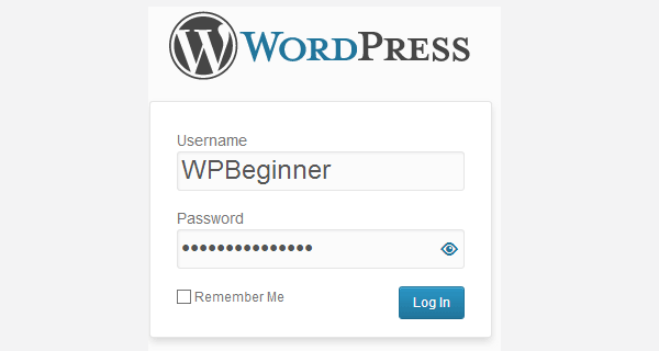 Mostrar u ocultar la contraseña en WordPress Login Screen