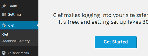 Setting up Clef in WordPress