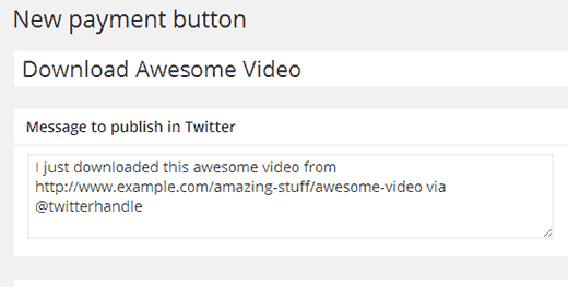 Creating your first pay with a tweet button  - pwt newbutton1 - Add Pay With a Tweet Button for File Downloads in WordPress