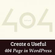 How to Create a More Useful 404 Error Page in WordPress