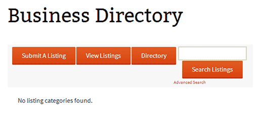 An empty web directory