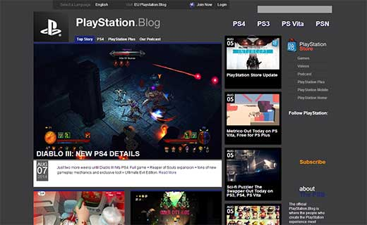 PlayStation.Blog 40+ Notable WordPress Websites - playstationblog