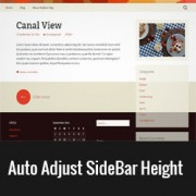 How to Auto Adjust WordPress Sidebar to Match Content Height