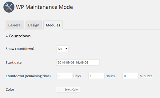 Adding a countdown timer on your maintenance mode page