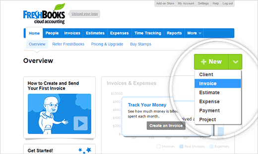 Creating your first invoice with FreshBooks