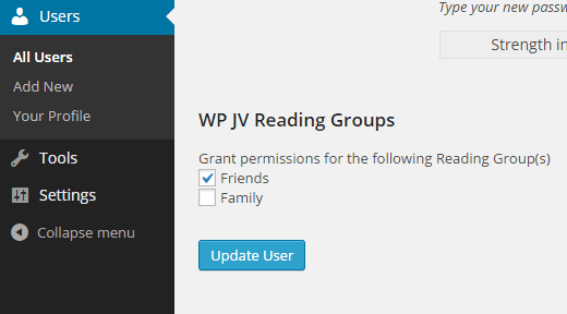 Adding user into reading group