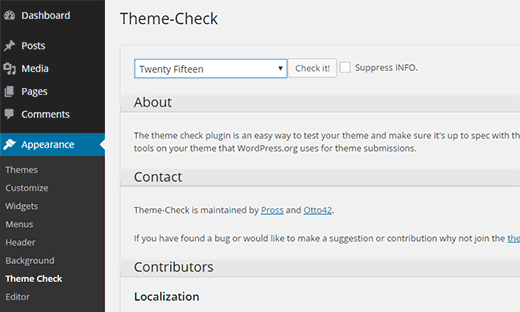 how to find a wordpress theme in action