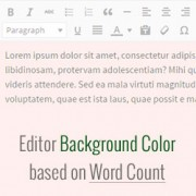 Editor Background Color based on Word Count