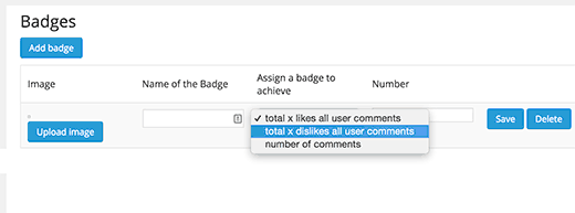 Adding badges for WordPress comments