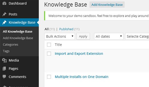 Knowledge Base Admin