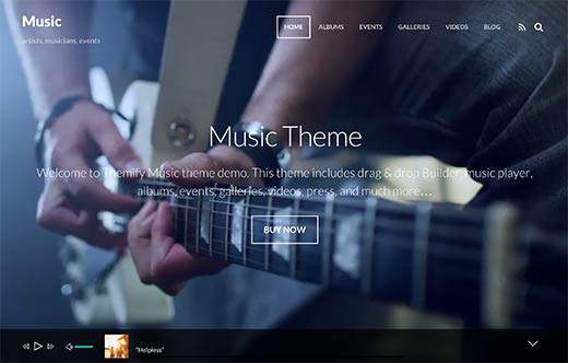 Music - Simple WordPress theme for musicians