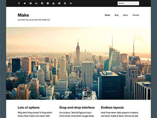 Make - Tema de negocio para WordPress gratis