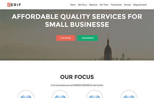 Zerif Lite - Free WordPress Business Theme