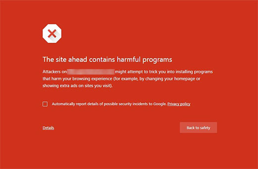 Image result for the site ahead contains malware