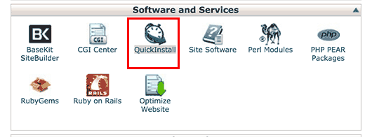 QuickInstall en el panel de control cPanel