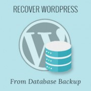 How to Restore a WordPress Site with Just Database Backup