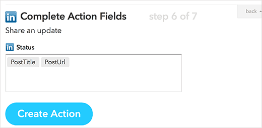 Action fields