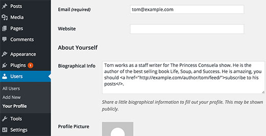 Adding a subscribe to author link in author bio section