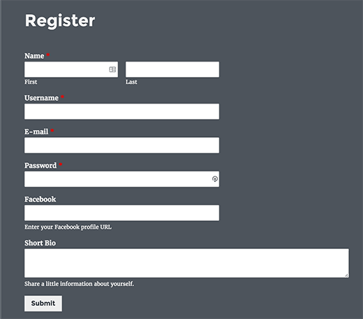 Superb Previewing Custom User Registration Form