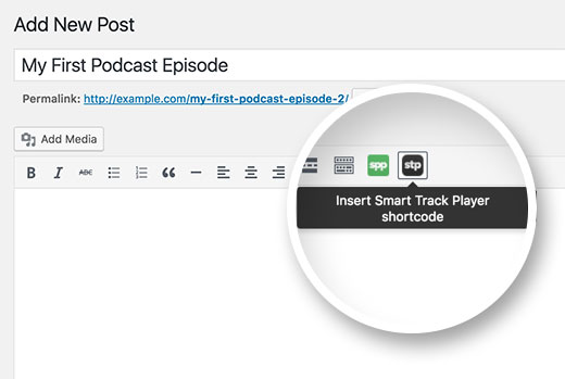 Insert smart podcast player in your post