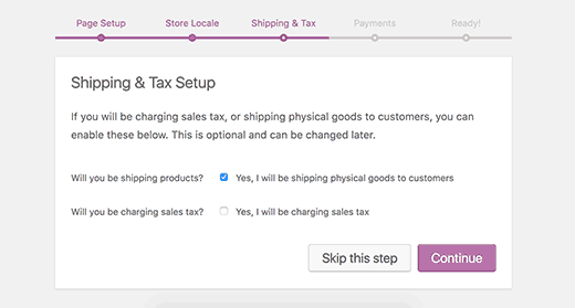 WooCommerce shipping and tax information